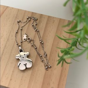 🦋Tous 925 Sterling Silver Bear Necklace